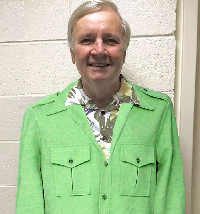 Chuck in his green leisure suit
