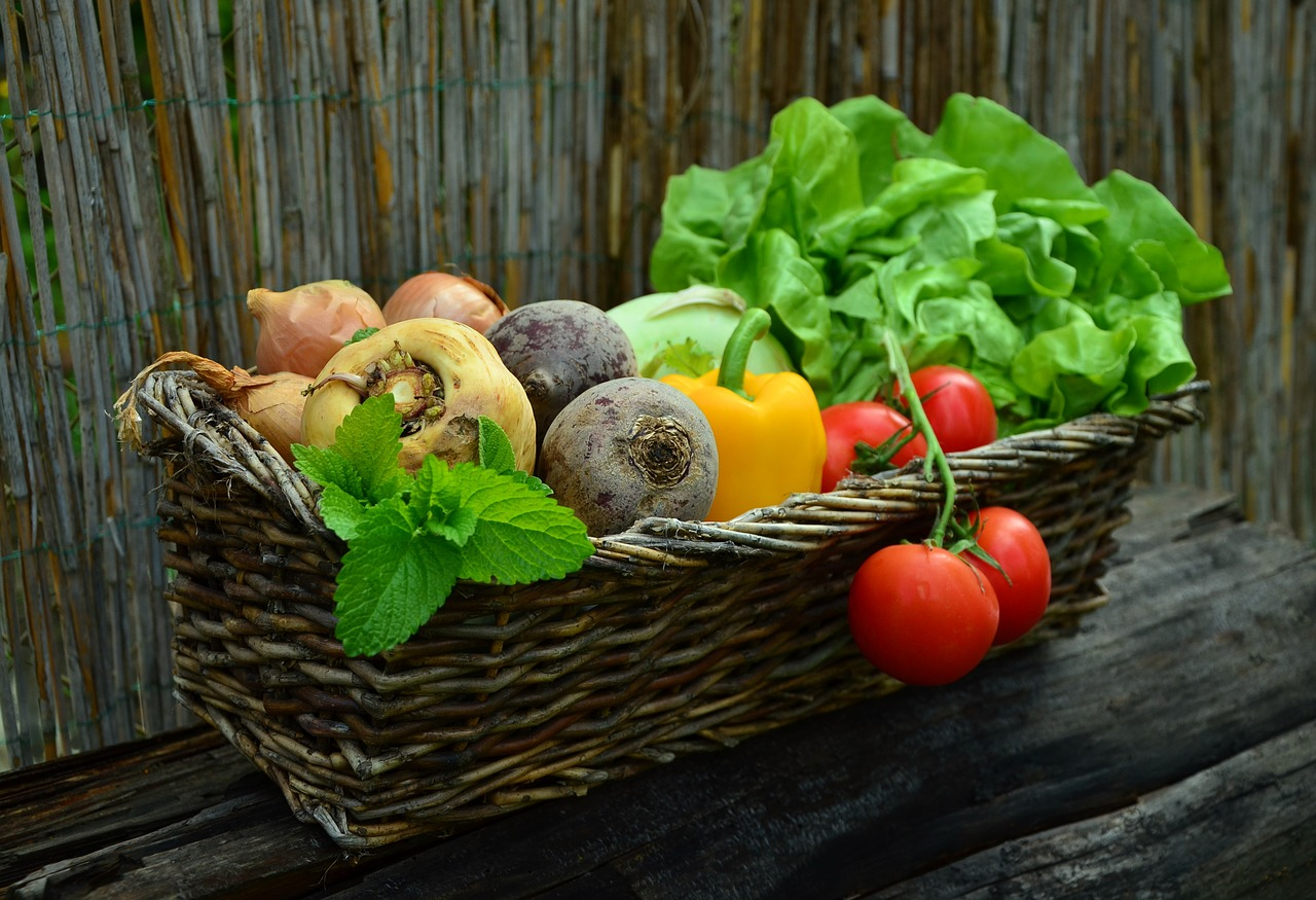 Image of Basket full of Vegetables