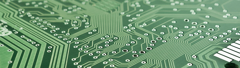 Photo of a computer's circuit board
